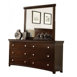 Foles Brown Cherry Dresser with Optional Mirror