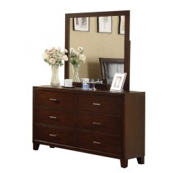 Palazzo Cherry Brown Dresser with Mirror